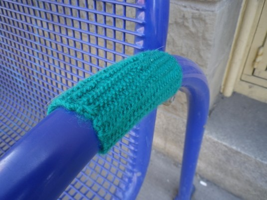 Green Knit Graffiti
