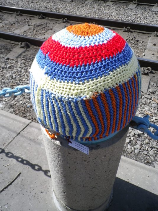 knit bomb traffic cap