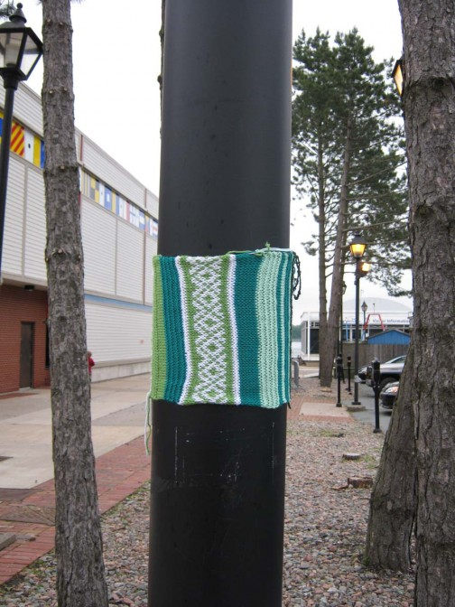 Knit Graffiti in Halifax Harbor